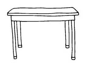 rectangular table coloring page coloringcrew