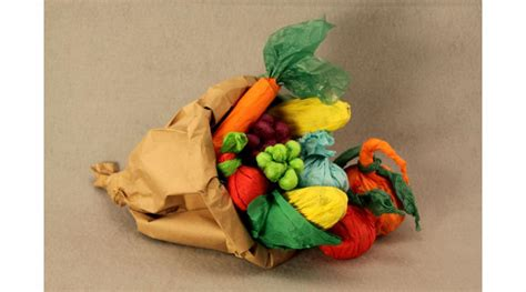How To Make A Cornucopia Out Of Paper - paper bag cornucopia