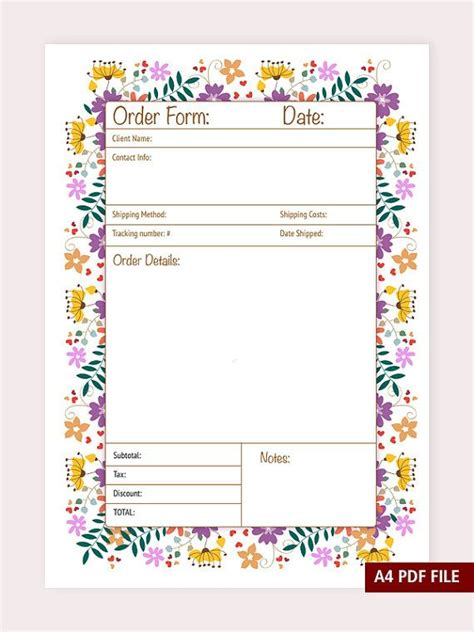 printable order forms for crafts 25 best ideas about order form on pinterest order pizza