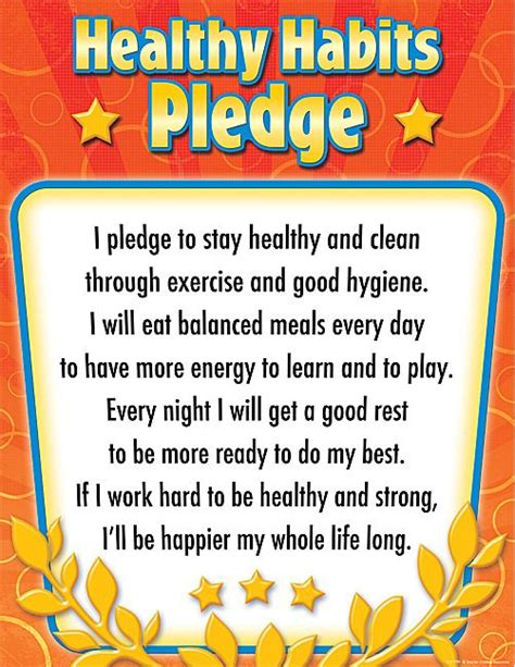 the healthy living handbook simple everyday habits for your mind and spirit books healthy habits pledge chart products healthy habits and