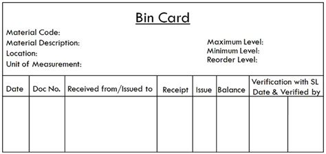 Bin Card Template In Excel by Difference Between Bin Card And Stores Ledger With