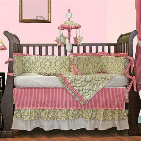 Monogrammed Crib Bedding Monogrammed Crib Bedding Versailles Green Crib Bedding At The Pink Monogram Custom Linen Crib