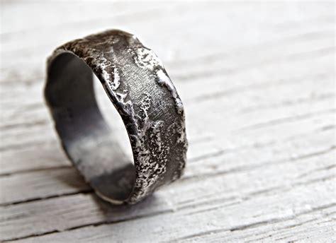 unique silver ring silver wedding band unique engagement
