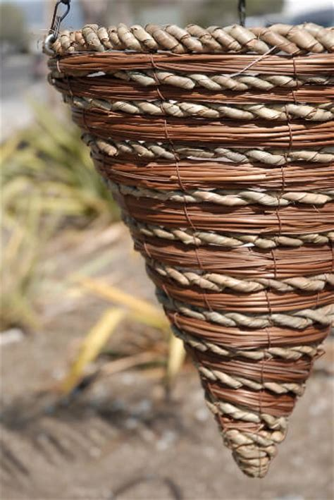 How To Make A Rope Hanging Basket - fern rope cone hanging baskets