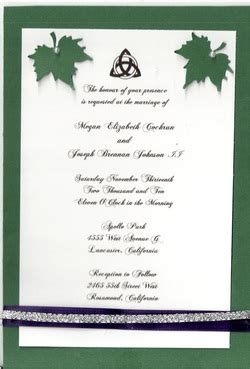 wiccan wedding invitation wording invitations scarlet creations