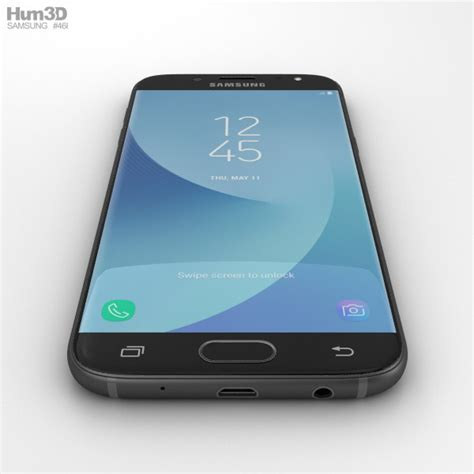 3d Samsung J5 samsung galaxy j5 2017 black 3d model hum3d
