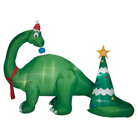 9 5 foot brontosaurus scene inflatable decoration