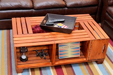 wood crate coffee wood crate coffee table