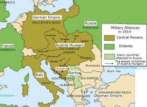 Map Of Europe In Ww1 by Ww1 Map Of Europe 1914