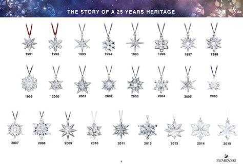 swarovski 2016 annual edition ornament snowflake 25th