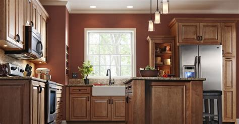 Maple Cabinets Lowes by Shenandoah Mission Maple In Auburn Kitchen