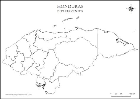 honduras map coloring page free honduras map coloring pages