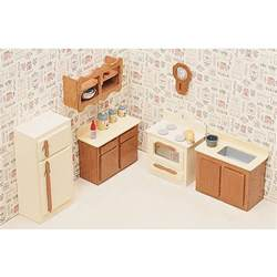 Dolls House Kitchen Furniture unfinished wood kitchen dollhouse furniture kit free