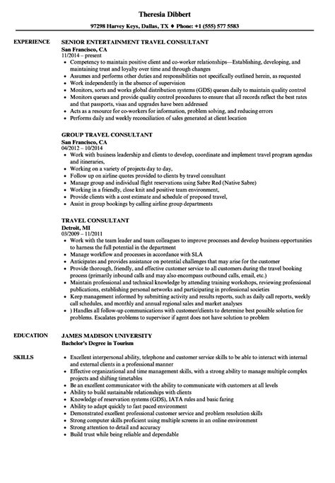 Travel Resume by Resume Travel Consultant Resume Ideas