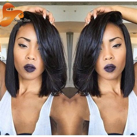 medium length weave no part long hairstyles aliexpress com buy 8a top short bob wig brazilian virgin