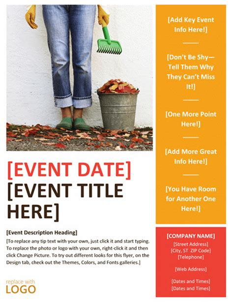 free event flyers templates flyer templates word free