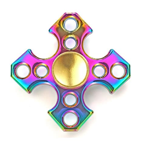Neo Chrome Rainbow Speedy Metal Aluminium Fidget neo chrome cross fidget spinner fidget spinner uk