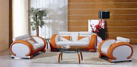 Orange Living Room Sets Two Toned Orange And White Leather Contemporary Sofa Living Room Set Honolulu Cdp Hawaii V7391