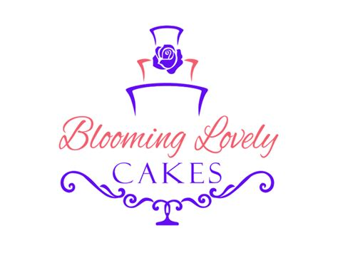 Wedding Cake Logo by Colorful Wedding Logo Design For Blooming Lovely