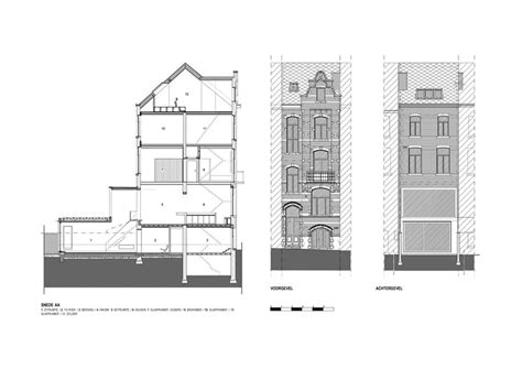 renovating a terraced house terraced house renovation heverlee belgium by volt architecten plan ideasgn