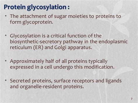 protein glycosylation protein glycosylation and its associated disorders