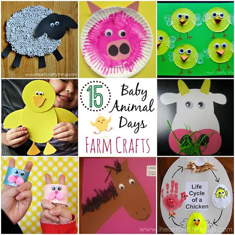 farm animal crafts for 15 baby animal days farm crafts for i