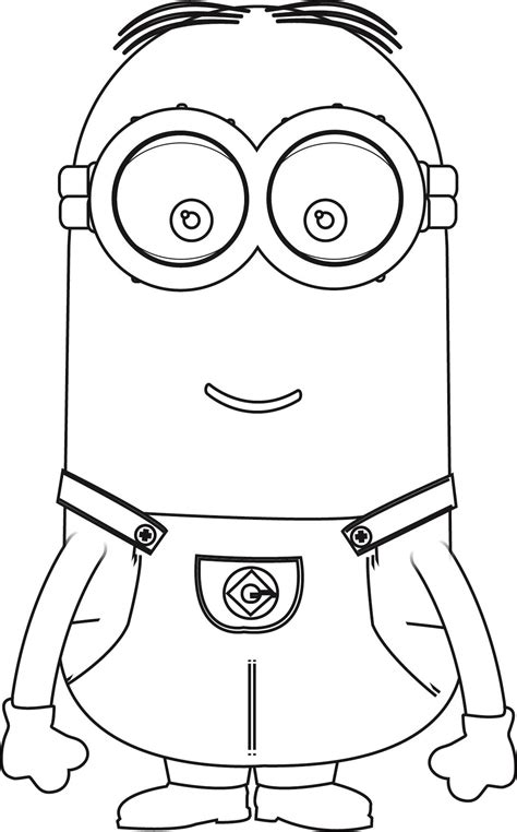minion template minions kevin coloring page wecoloringpage