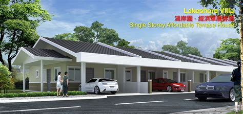 Modern Concrete Home Plans And Designs by New Affordable Single Storey Terrace House In Miri