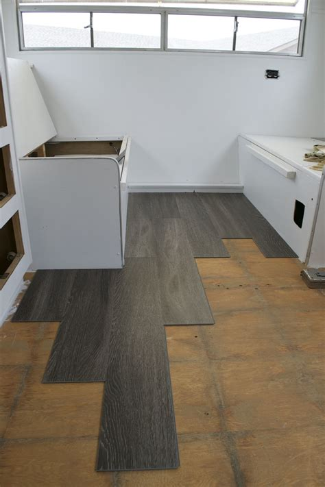 Can You Re Laminate Kitchen Cabinets by Reasons To Install Vinyl Plank Flooring In Your Trailer Or