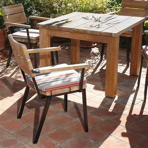 Barlow Tyrie Rustic Teak Titan Armchair Rustic Teak Outdoor Furniture