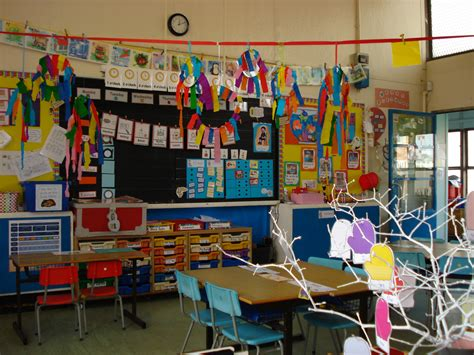 doing activity of decorating with classroom decoration - Theme For Classroom Decoration