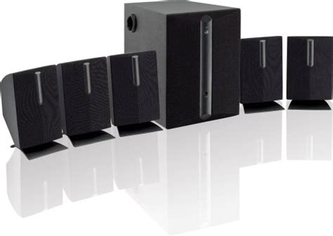 gpx htb  channel home theater speaker system black