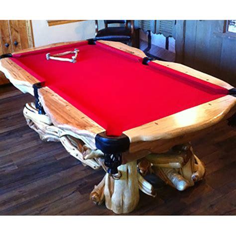 wood pool table wood pool table rustic log reclaimed