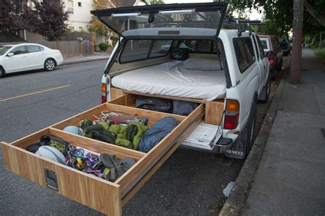 bed of truck diy truck bed slide out