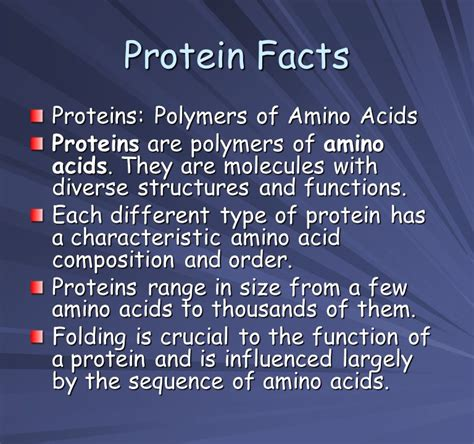 3 protein facts proteins and amino acids ppt