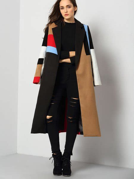 color block coat cozy color block coat fashion for trendy