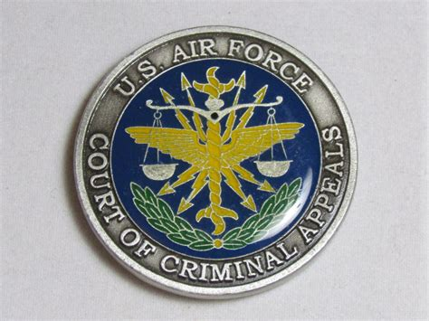 The Of A Criminal Record By Page Summary Us Air Court Of Criminal Appeals Usaf Challenge Coin Ebay