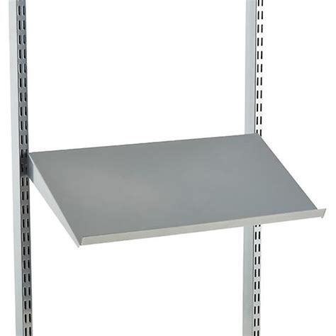 angled bookshelves platinum elfa angled solid metal shelves the container store