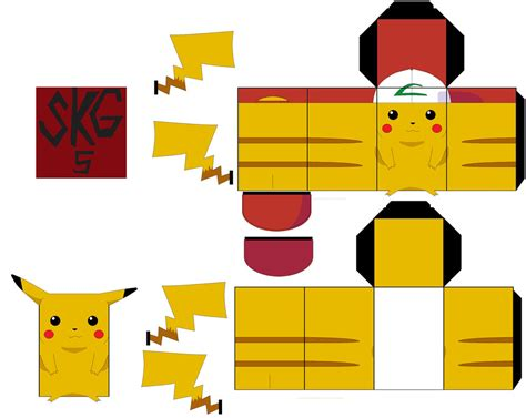 Pikachu Papercraft Template - 1000 images about on