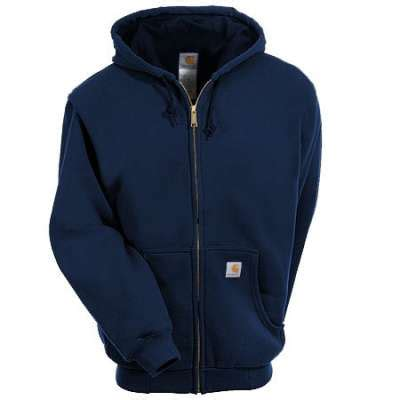 carhartt sweatshirts s navy k122 472 zip up hooded sweatshirt