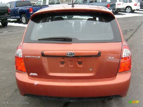 2007 Kia Spectra5 Sx Electric Orange 2007 Kia Spectra Spectra5 Sx Wagon