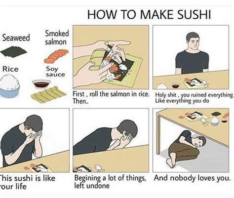 How To Make A Meme Comic With Your Own Picture - comment faire des sushis parfait