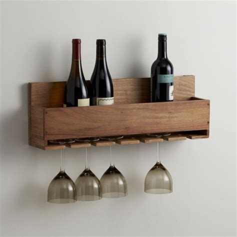 wine holder wine stem rack crate and barrel