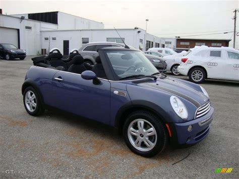 2005 2008 Mini Cooper Hardtop Convertible And S Cool Blue Metallic 2005 Mini Cooper Convertible Exterior