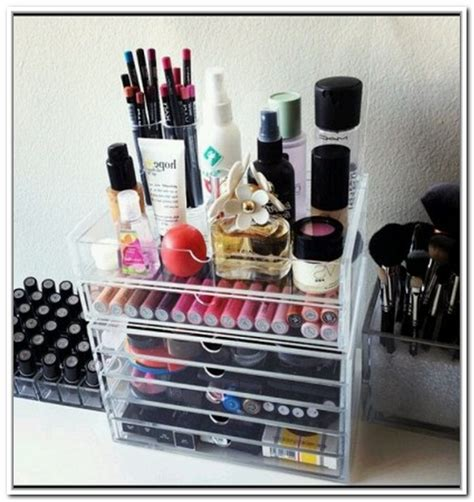 modern makeup storage containers with acrylic storage box