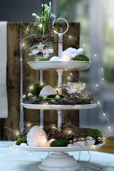 etagere dekorieren sommer herbst winter tisch decken