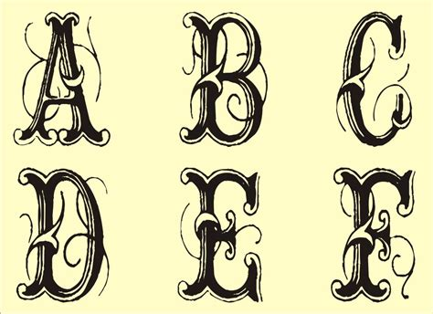 fancy letter alphabet