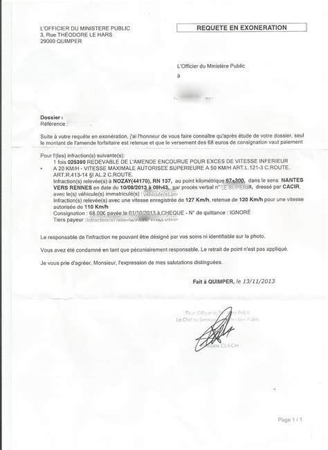 doc modele lettre contestation pv autre conducteur