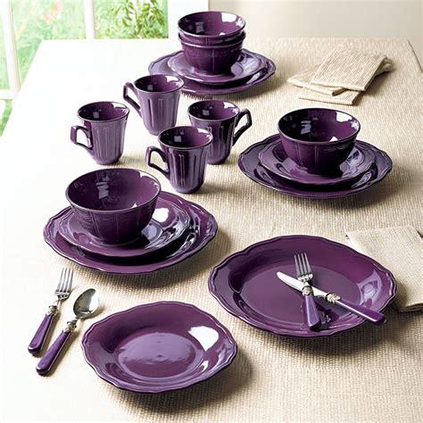 china bathroom set sbs40 purple china bathroom set 49 dinnerware purple sonoma 16 piece dinnerware set in