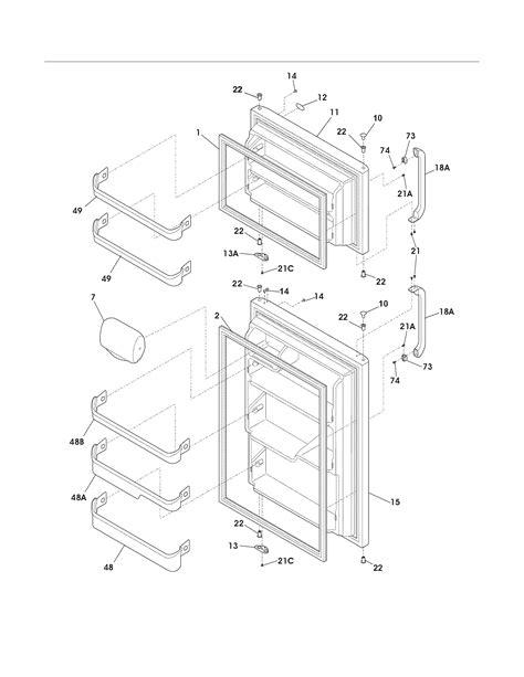 frigidaire refrigerator parts diagram frigidaire refrigerator parts model frt17l3fw5 sears